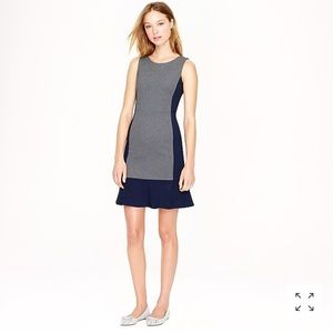 J Crew Navy Gray Dress